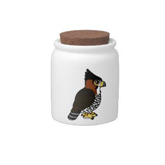 Ornate Hawk-Eagle Candy Jar