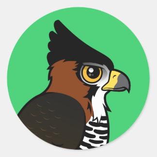 Ornate Hawk-Eagle Classic Round Sticker