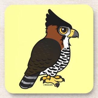 Ornate Hawk-Eagle Drink Coaster
