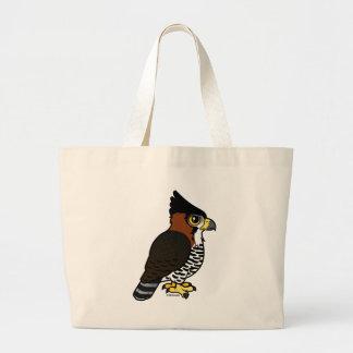 Ornate Hawk-Eagle Large Tote Bag