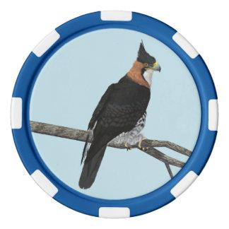 Ornate Hawk-Eagle Poker Chips