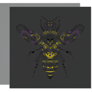 ornate honey bee card