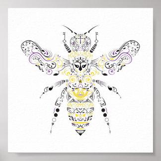 ornate honey bee poster