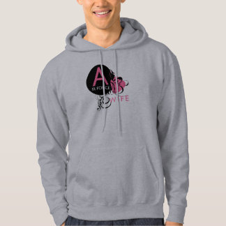 Ornate Initial - Air Force Wife Hoodie