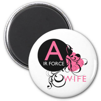 Ornate Initial - Air Force Wife Magnet