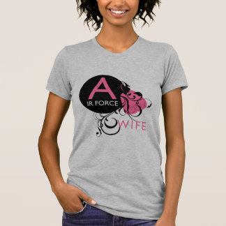 Ornate Initial - Air Force Wife T-shirt