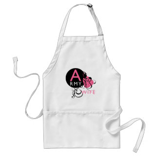 Ornate Initial - Army Wife Adult Apron