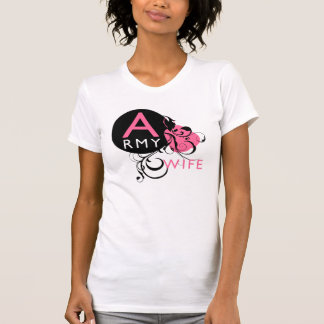 Ornate Initial - Army Wife T-Shirt