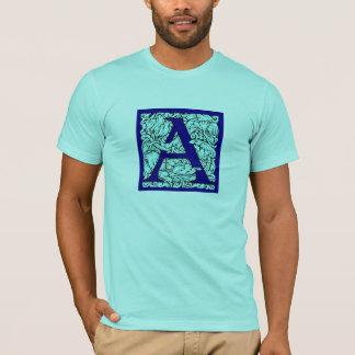 Ornate Initial Letter A T-Shirt