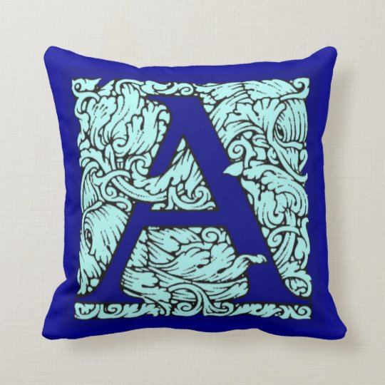Ornate Initial Letter A Throw Pillow