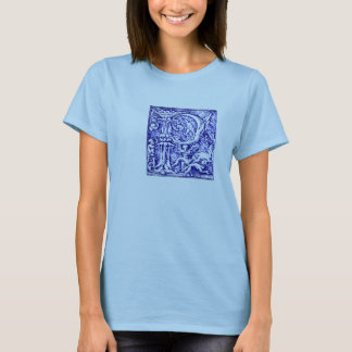 Ornate Initial Letter P T-Shirt