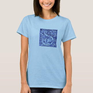 Ornate Initial Letter S T-Shirt