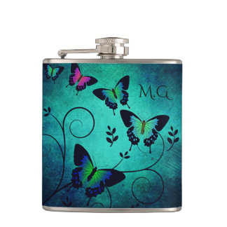Ornate Jewel Butterflies Flask