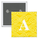 Ornate Knotwork Monogram - Letter A Pinback Buttons