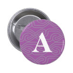 Ornate Knotwork Monogram - Letter A Buttons