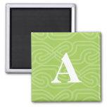 Ornate Knotwork Monogram - Letter A Magnet