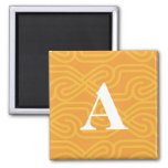 Ornate Knotwork Monogram - Letter A Magnet