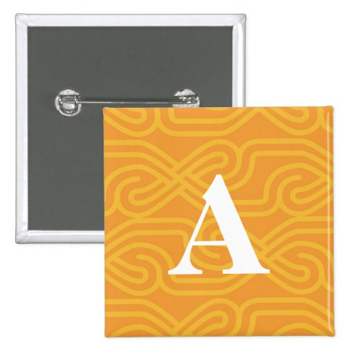 Ornate Knotwork Monogram - Letter A Pinback Button