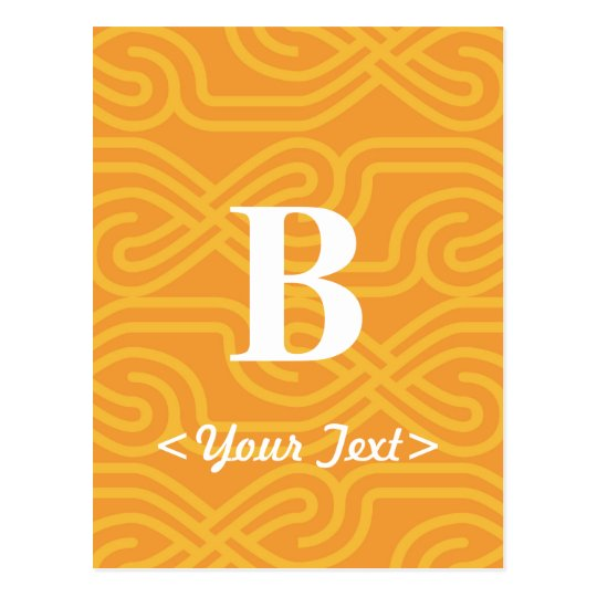 Ornate Knotwork Monogram - Letter B Postcard