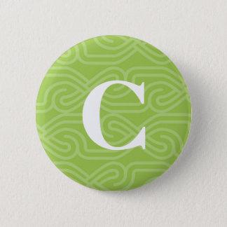 Ornate Knotwork Monogram - Letter C Button