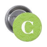 Ornate Knotwork Monogram - Letter C Buttons