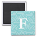 Ornate Knotwork Monogram - Letter F Magnet