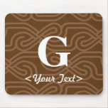 Ornate Knotwork Monogram - Letter G Mouse Pad