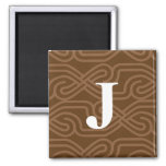 Ornate Knotwork Monogram - Letter J Magnet