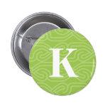 Ornate Knotwork Monogram - Letter K Button