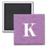 Ornate Knotwork Monogram - Letter K Magnet