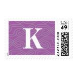 Ornate Knotwork Monogram - Letter K Postage Stamps