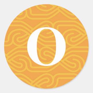 Ornate Knotwork Monogram - Letter O Sticker
