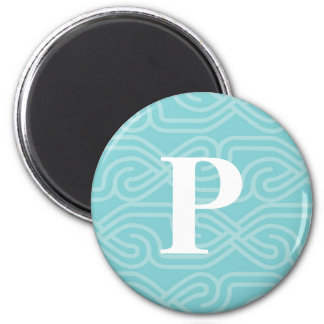 Ornate Knotwork Monogram - Letter P Magnet