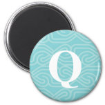 Ornate Knotwork Monogram - Letter Q Magnet