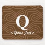 Ornate Knotwork Monogram - Letter Q Mouse Pad