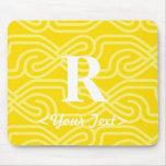Ornate Knotwork Monogram - Letter R Mouse Pad