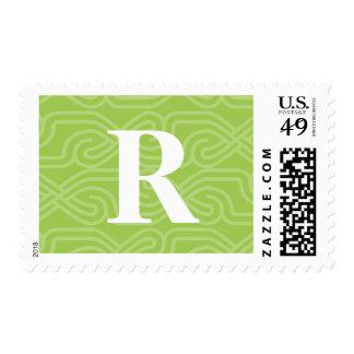 Ornate Knotwork Monogram - Letter R Postage Stamps