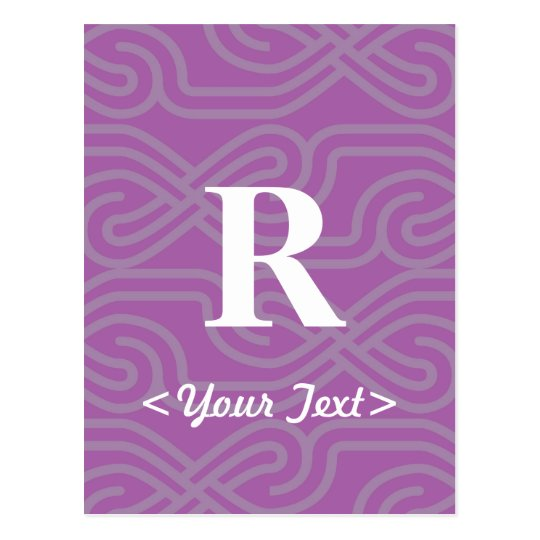 Ornate Knotwork Monogram - Letter R Postcard