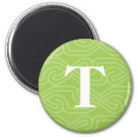 Ornate Knotwork Monogram - Letter T Magnet