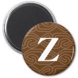 Ornate Knotwork Monogram - Letter Z Magnet