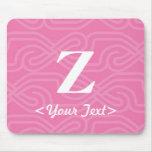 Ornate Knotwork Monogram - Letter Z Mouse Pad