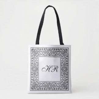 Ornate Knotwork Monogram Tote Bag