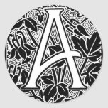 "Ornate Letter ""A"" Stickers"