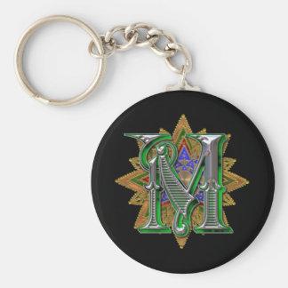 Ornate Letter M keychain