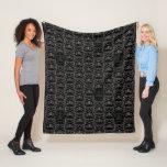 Ornate Lines Darth Vader and Stormtrooper Pattern Fleece Blanket