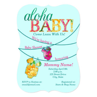 Ornate Luau Baby Shower Invitation