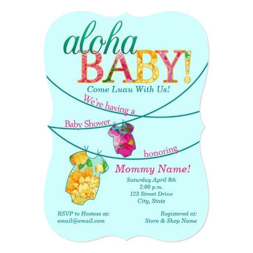 Ornate Luau Baby Shower Invitation