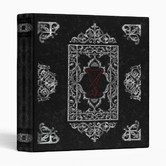 Ornate Luciferian Occult Goth Book Of Shadows Binder