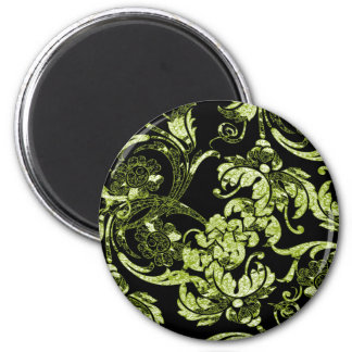 Ornate Magnet in Green & Black