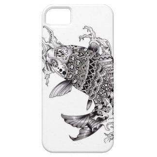 Ornate Mandala Style Koi Design - Phone case